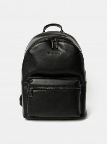 Černý kožený batoh Smith & Canova Around