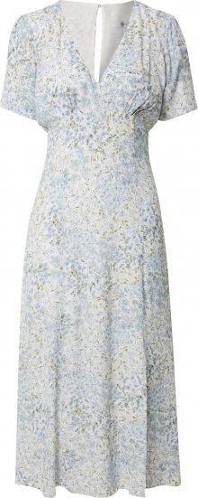 Forever New Letní šaty \'Jane Split\' modrá / bílá
