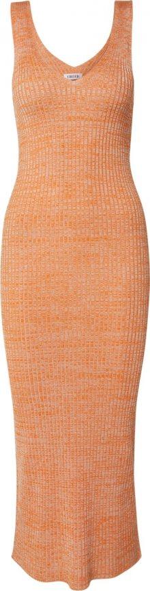 EDITED Úpletové šaty \'Elanor\' oranžová / béžová