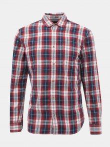 Červená kostkovaná slim fit košile Jack & Jones Dylan