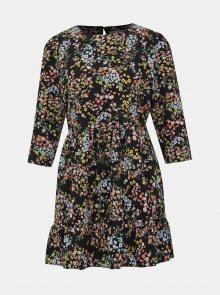 Černé květované šaty Miss Selfridge Petites
