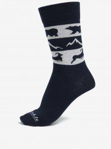 Šedo-modré ponožky s motivem zvířat Fusakle Vysoké Tatry
