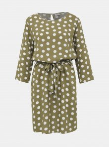 Khaki puntíkované šaty Jacqueline de Yong Leaf