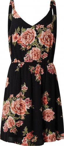 ONLY Letní šaty oranžová / černá