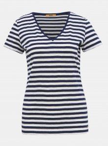 Bílo-modré dámské pruhované basic tričko ZOOT Baseline Aliki