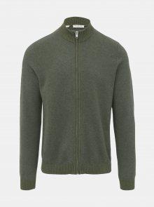 Khaki svetr na zip Selected Homme Fernando