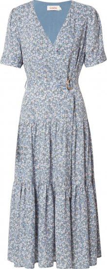 Louche Letní šaty \'EMIN FLAX\' světlemodrá / trávově zelená / bílá