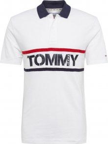 Tommy Jeans Tričko bílá / námořnická modř