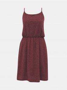 Vínové žíhané basic šaty s příměsí lnu ZOOT Baseline Radka