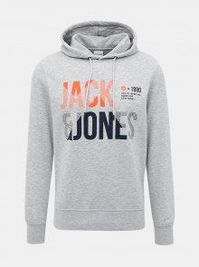 Světle šedá mikina s potiskem Jack & Jones Foke