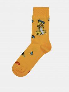 Oranžové dámské ponožky s motivem Víly Amálky Fusakle