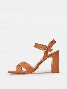 Hnědé sandály v semišové úpravě Dorothy Perkins