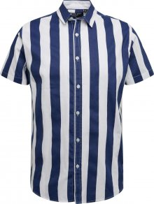 BRAVE SOUL Košile bílá / námořnická modř