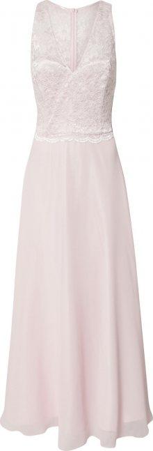 SWING Společenské šaty pastelově růžová