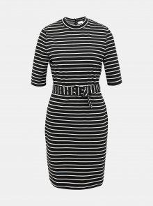 Černé pruhované šaty ONLY Frida