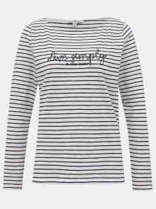 Bílé dámské pruhované tričko Tom Tailor