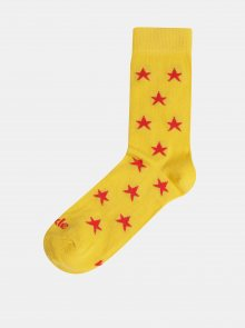 Žluté vzorované ponožky Fusakle Hviezda plážová