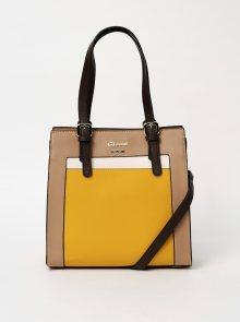 Žluto-hnědá kabelka Gionni Baster