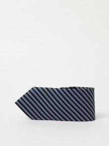 Tmavě modrá pruhovaná kravata Selected Homme Milas