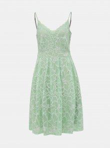 Světle zelené krajkové šaty VILA Yrena