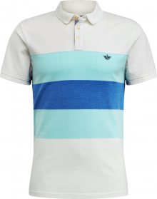 Dockers Tričko aqua modrá / bílá