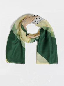 Žluto-zelený vzorovaný šátek ONLY Vice