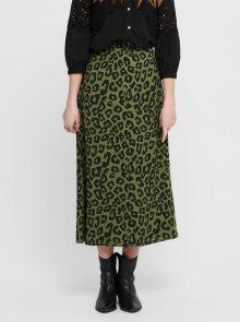 Zelená midi sukně s leopardím vzorem Jacqueline de Yong Seda
