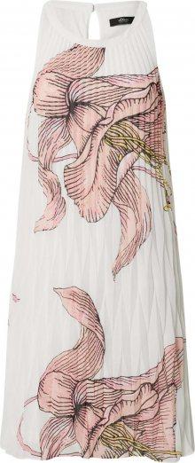 s.Oliver BLACK LABEL Šaty bílá / růžová / černá