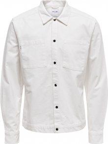 Only & Sons Košile barva bílé vlny