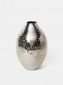 Vzorovaná kovová váza ve stříbrné barvě BUTLERS