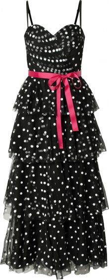 Forever Unique Společenské šaty \'MILLIE MAXI\' červená / černá / slonová kost