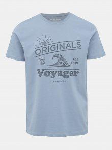 Světle modré tričko s potiskem Jack & Jones Dover