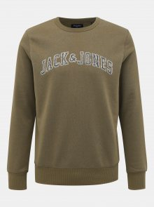Khaki mikina Jack & Jones Premium Alex