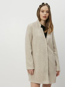 Béžový lehký kabát VERO MODA Brushedka