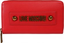 Love Moschino Peněženka \'SLG-LETTERING LOVE MOSCHINO\' červená