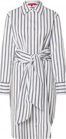 HUGO Košilové šaty \'Emaltea\' tmavě modrá / bílá