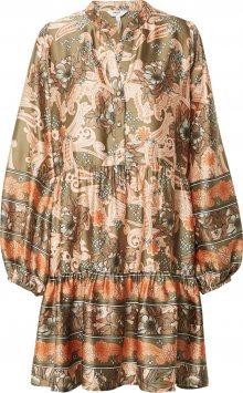 OBJECT Košilové šaty mix barev / hnědá