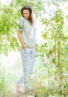 Dámské pyžamo Key LHS 913 A20 2XL šedá-bílá XXL