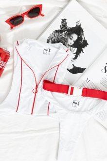 Hugz Plavky Tokyo Buckle-Zip Bikini White M