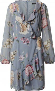 Trendyol Letní šaty růžová / šedá / světlemodrá
