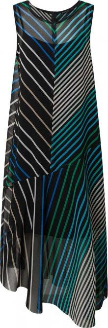 Marc Cain Šaty tmavě modrá / béžová / nebeská modř / zelená