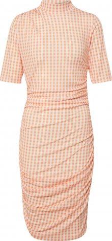 EDITED Šaty \'Nessa\' krémová / oranžová