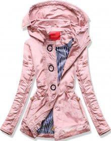 Krátká bunda typu parka ve starorůžové barvě (P01) růžová S (36)