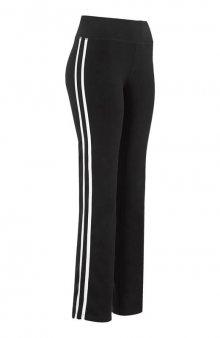 Sportovní kalhoty s lampasy / fuchsiová/černá