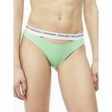 Calvin Klein Plavky CK Logo Classic Bikini Green Spodní Díl S