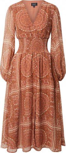 Bardot Letní šaty \'MARA\' oranžová / hnědá