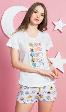 Dámské pyžamo šortky Smile smetanová XL