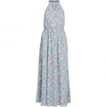 Vila Dámské šaty VISMILLA MAXI DRESS/DC Ashley Blue FLOWER PRINT 40