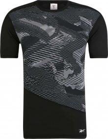 REEBOK Funkční tričko \'TS SS Comp Tee - AO\' černá / šedá