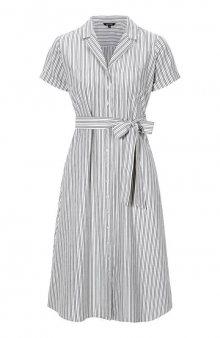 Pruhované košilové šaty Sandra / bílá/černá